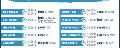 2019 KIF CAC – CACIB Takvimi